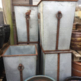 Large Metal Pots/Planters