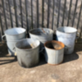 Old Galvenised Containers