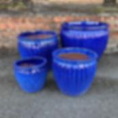 Glazed Blue Pots