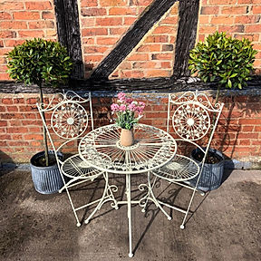 Antique White Bistro Set