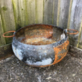 Galvenised Bowl