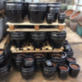 Black Glazed Pots/Planters