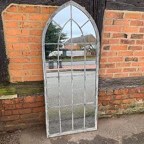 Large Gothic Garden Mirror
