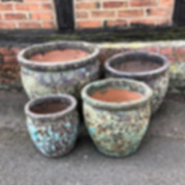 Antique Green Glazed Pots