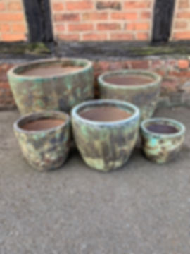 Boiling Glaze Green Pots