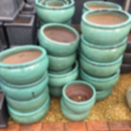 Green Glazed Pots/Planters
