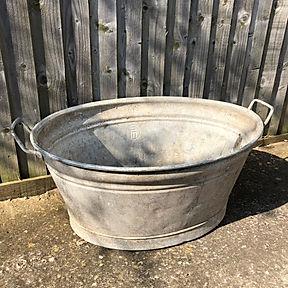 Vintage Galvenised Bath