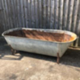 Large Vintage Galvenised Bath