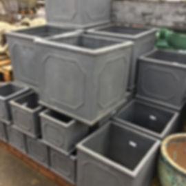 Grey Square Pots/Planters
