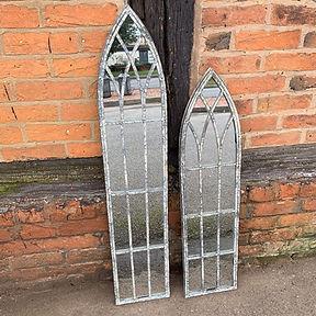 Slim Gothic Garden Mirrors