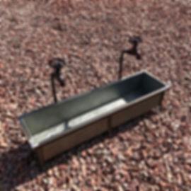 Galvenised Trough Tap Planter