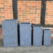 Contemporary tall square planters