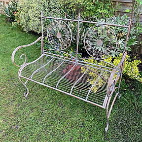 Verdigris Metal Bench