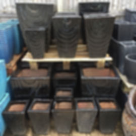 Glazed Black Pots/Planters