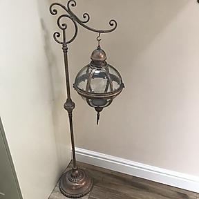Globe Candle Lantern on Stand