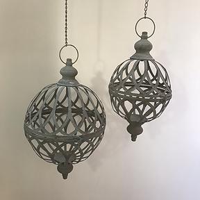 Metal Globe Candle Holder / Hanging Basket