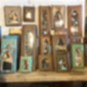 Old Indian Wooden Mirrors
