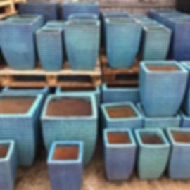 Aqua Green Pots/Planters