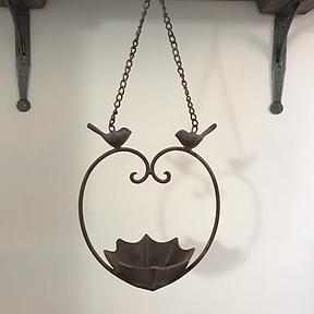 Cast Iron Heart Bird Feeder
