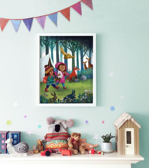 Little Woodland Adventurers - Custom Print