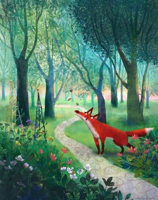 Flossie the Fox - chasing moths