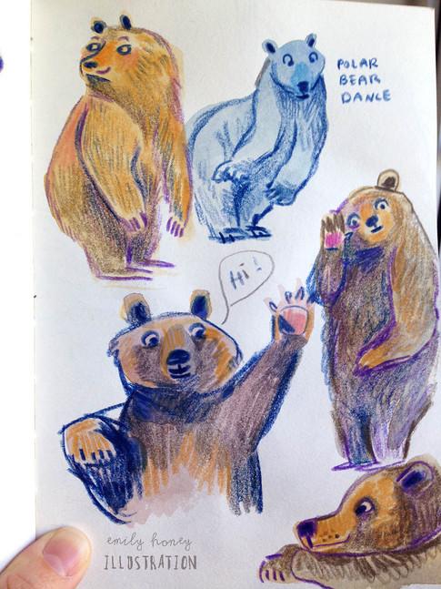 Hello bears...sketchbook