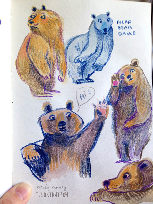 Hello bears...sketchbook