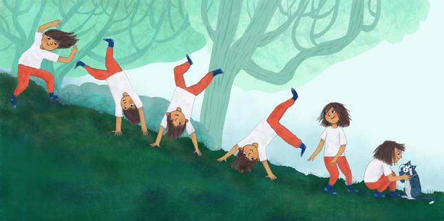 Nola + Claude - cartwheels