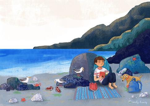 Finn + Apollo at the beach