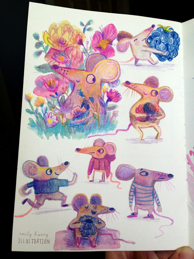 Mice to meet you...sketchbook pages