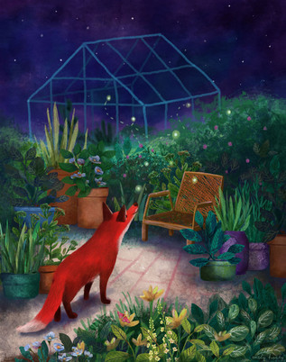 Flossie the Fox - greenhouse dreaming