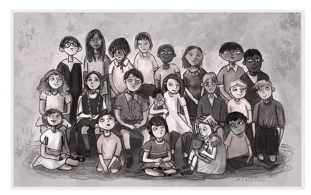 Old School Class Photo