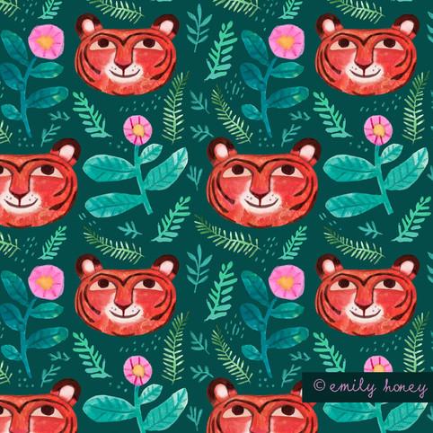 Tiger face pattern
