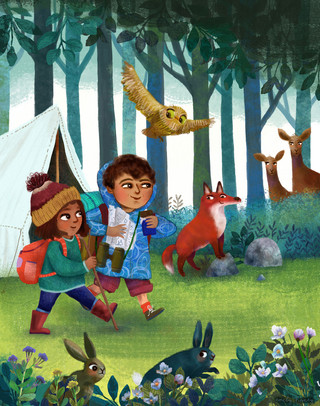 Little woodland adventurers