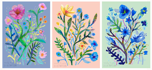 Collage Flowers series