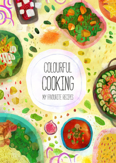 Colourful Cooking Recipe  cover mock up