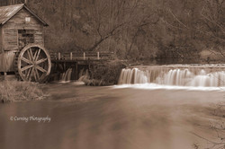 Hyde's Mill in sepia tone
