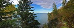 panoramic peek at lake superior