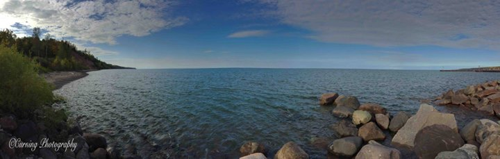 Panoramic lake Superior