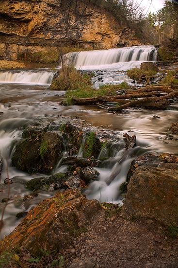 photograph of a waterfall cascade