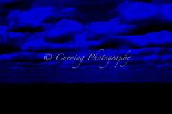 black and blue sky