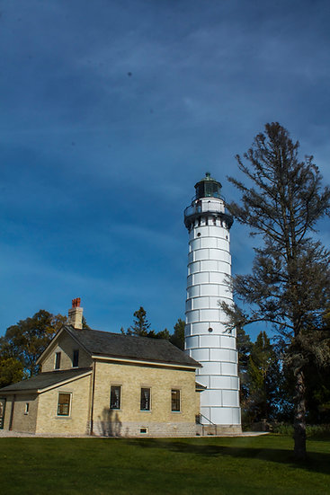 photograph of Cana island lighthouse in Door county Wisconsin
