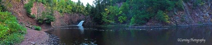 Panoramic waterfall