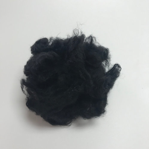 3D AA deep black recycled polyester staple fiber nonwoven
