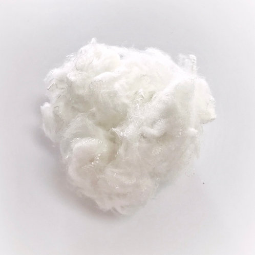 1.4D Raw white (close to virgin) recycled polyester staple fiber