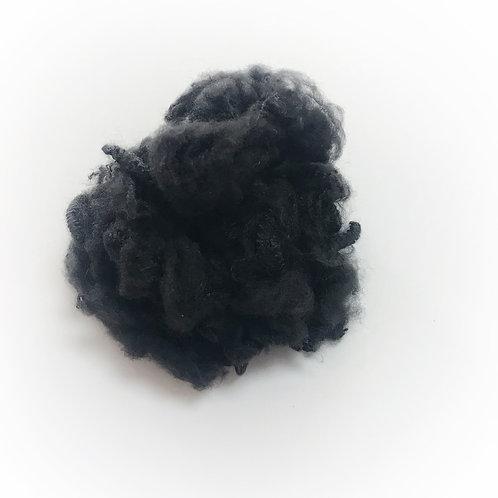 1.5D B grade black recycled polyester staple fiber spinning