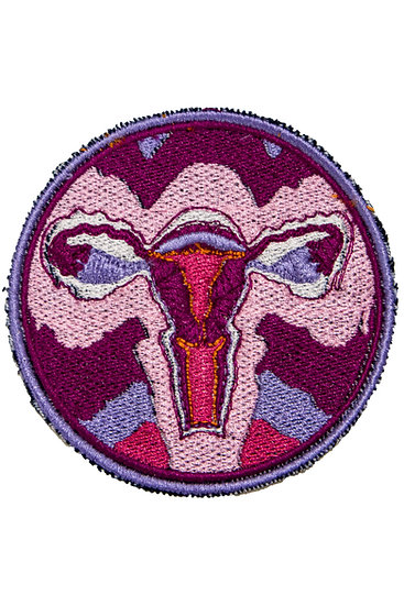 embroidered uterus patch - iron and sew on
