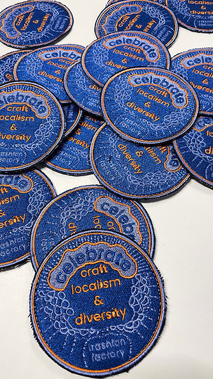 Embroidered Iron-on Patch - Celebrate Craft Localism & Diversity