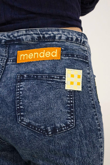 mended iron-on patch
