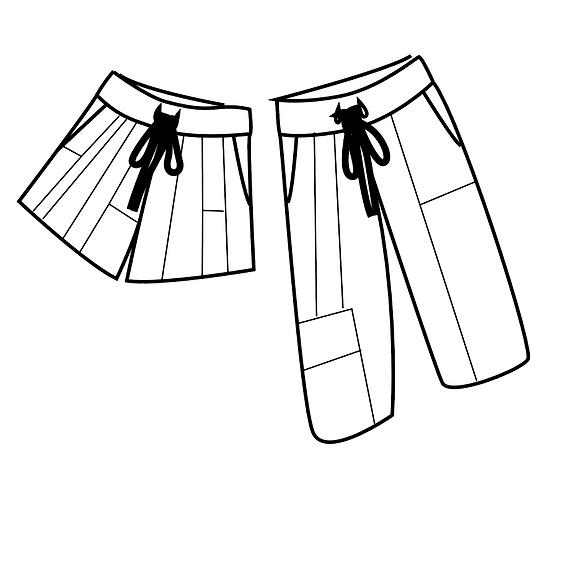 Easy Trousers / Shorts Sewing Course - Upcycling Workshops